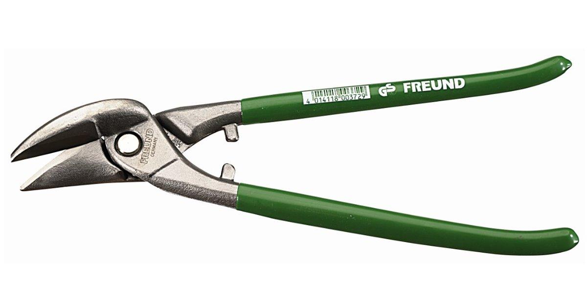 Kombinētās lokšņu šķēres, zaļas, HRC 56